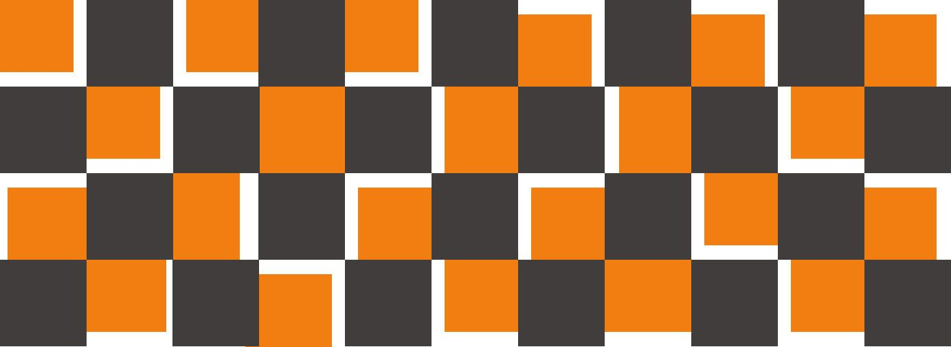 Damier stylisé- Orange et Gris - Reflex Auto Ecole