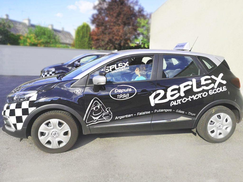Mise en situation d'un cours de conduite - Voiture - Reflex Auto Ecole